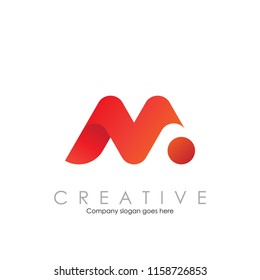 M N logo with modern concept vector illustration
