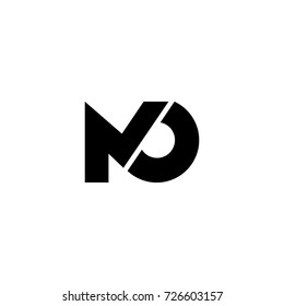 m and o letter vector logo
