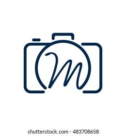 M photography logo design