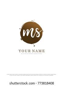 M & S initial splash logo template vector - Shutterstock ID 773818408
