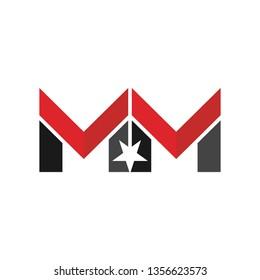 M Star. MM. Vector Logo.