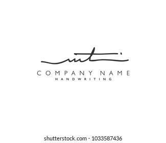 M T Initial handwriting logo