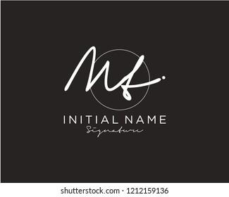 M T Signature initial logo template vector