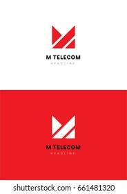 M telecom logo template.