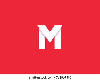 M V letter logo design template. Superhero symbol concept. Letters M and V logo. Vector illustration