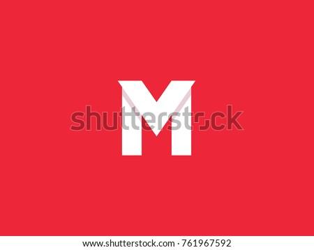 M V Letter Logo Design Template Stock Vector Royalty Free