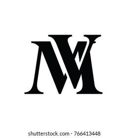 M V Logo Vector