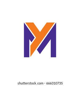 M And Y Logo Template