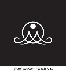 M yoga logo