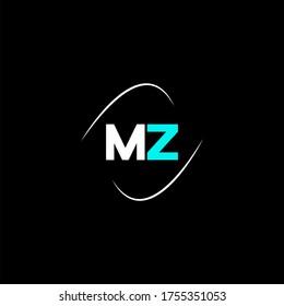 M Z letter logo emblem design