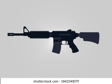 m14 assault rifle machine gun.m14 assault rifle gun vector.m14 rifle vector design.