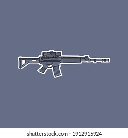 m16 assault rifle type produced by pindad Indonesia
