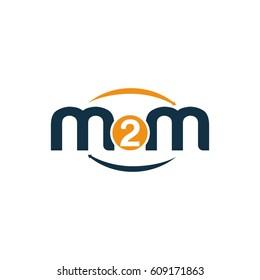 m2m initial, m moving to madrid logo design