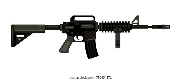 M4 assault rifle carbine f...le vector illustration