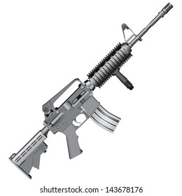 M4 carbine is armed with the U.S. Army. Vector illustration.
