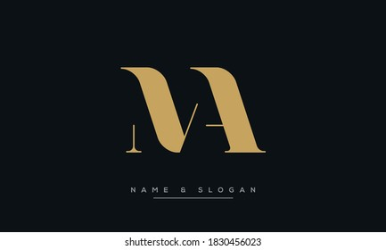 MA, AM Abstract Letters Logo Monogram