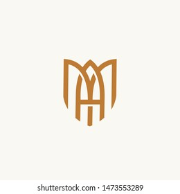 MA or AM. Monogram of Two letters A&M. Luxury, simple, minimal and elegant MA logo design. Vector illustration template.