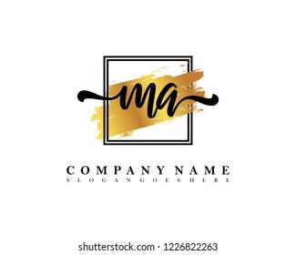 MA Initial handwriting logo concept
