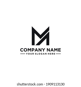 MA letter logo design idea. Masculine, abstract, simple, strong and bold. Suitable for construction, but also for other businesses.
