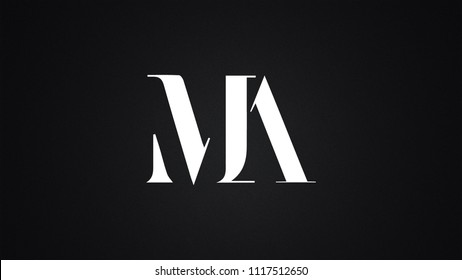 MA Letter Logo Design Template Vector