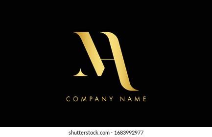MA AM Letter Logo Design Template Vector