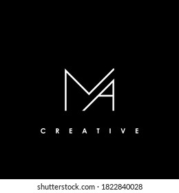 MA Letter Logo Design Template Vector