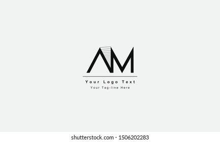 AM or MA letter logo. Unique attractive creative modern initial AM MA A M initial based letter icon logo