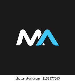 MA logo designed with Letter M and A in vector format.