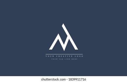 MA AM M A abstract vector logo monogram template