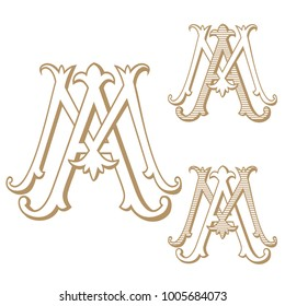 AM or MA Vintage Monogram
