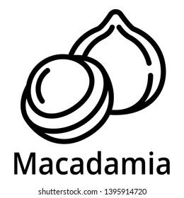 Macadamia icon. Outline macadamia vector icon for web design isolated on white background