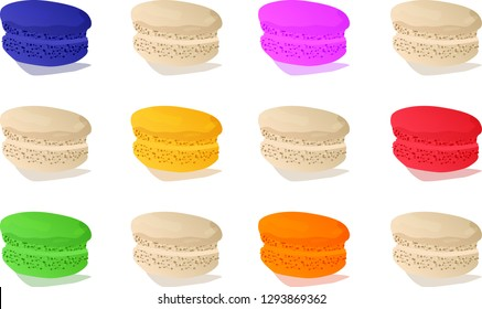Macaron Flat Lay multi-colored