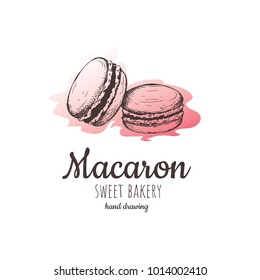 macaroon biscuits, sweet and beautiful dessert