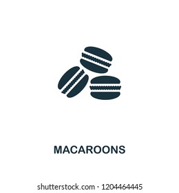 Macaroons icon. Premium style design from coffe shop collection. UX and UI. Pixel perfect macaroons icon. For web design, apps, software, printing usage.