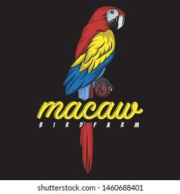 Macaw Bird for logo, tshirt, community, etc