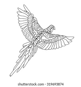 Parrot Coloring Pages Images Stock Photos Vectors Shutterstock