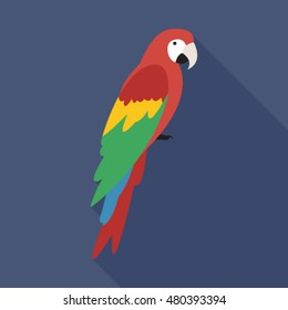 macaw parrot flat icon. You can be used macaw parrot icon for several purposes like: websites, UI, UX, print templates, promotional materials, info-graphics, web and mobile phone apps.