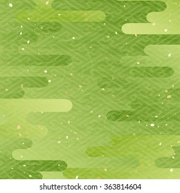 Maccha color Japanese pattern background