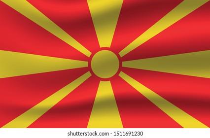 Macedonia flag. Simple vector. National flag of Macedonia