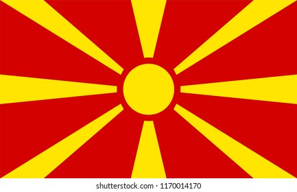 Macedonia Flag, Vector image and icon