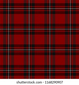 MacGregor Tartan pattern. Scottish cage. Scottish checkered background. Traditional scottish ornament. Scottish plaid in classic colors. Seamless fabric texture. Vector illustration