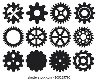 machine gear collection (cogwheel set)