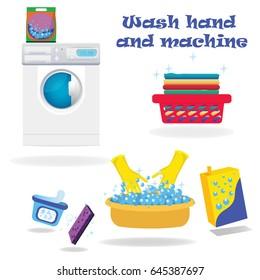 machine and hand wash,washing machine ,basin, Laundry basket