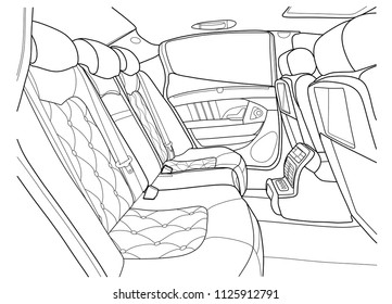 car interior control stock vectors images vector art shutterstock Back to the Future Cars the interior of the vehicle back seat vector illustration of