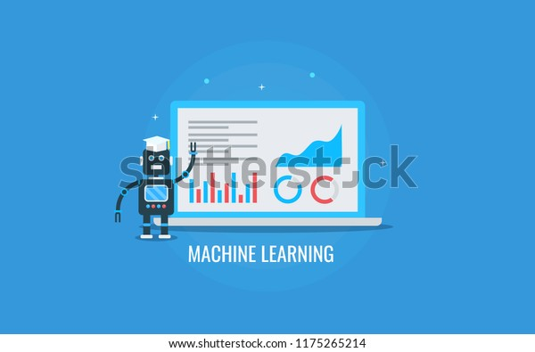 Machine Learning Application Artificial Intelligence Flat Stock