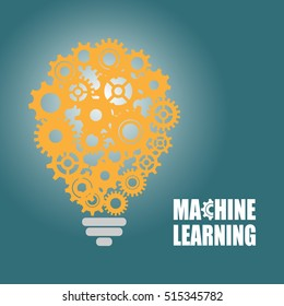 Machine learning and artificial intelligence. Vector illustration