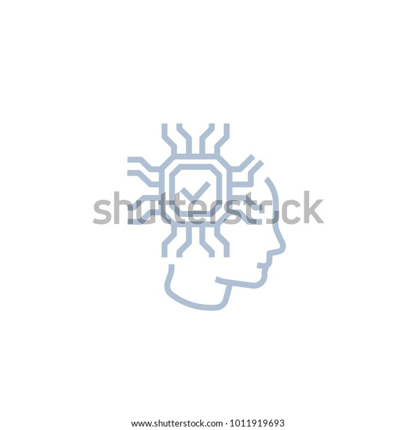 Machine Learning Artificial Neural Network Icon Stock Vector