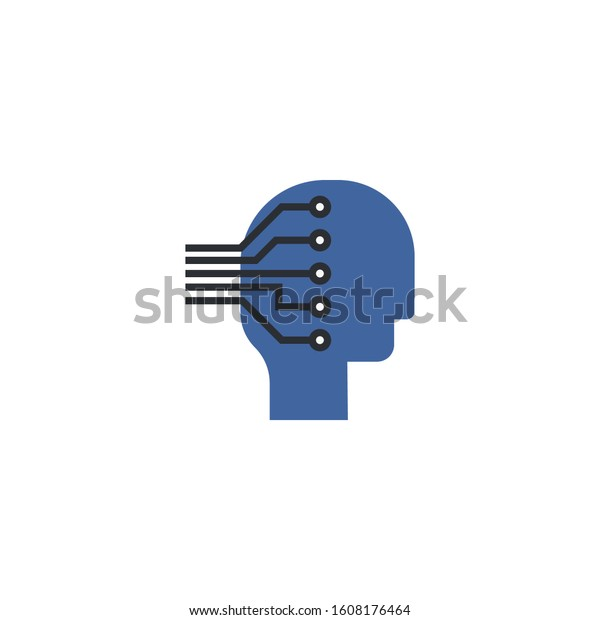 Machine learning creative icon. From Artificial Intelligence icons collection. Isolated Machine learning sign on white background