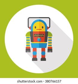 machine robot flat icon