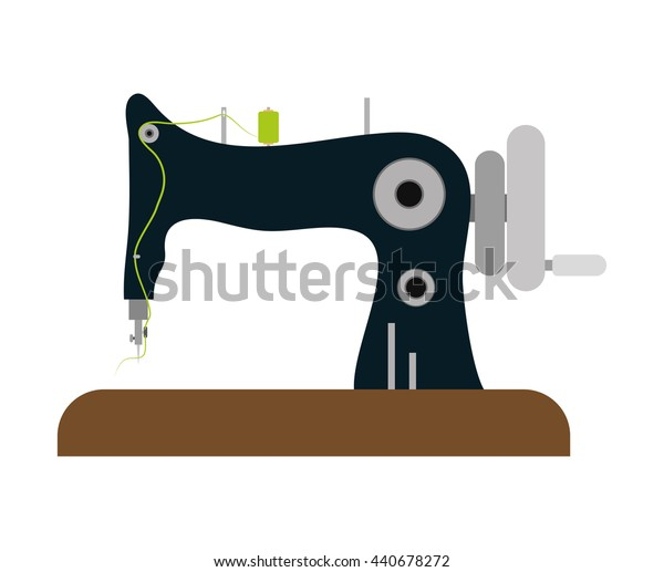 Machine. Tailor and Sewing. Vector graphic